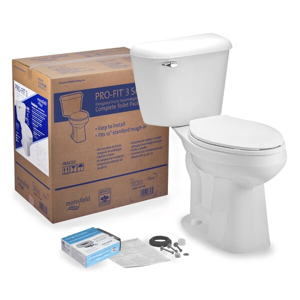 Pro-Fit 3 1.6 GPF Elongated Two-Piece Toilet by Mansfield Plumbing Products