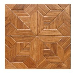 Salon Parquet Engineered 15.75 x 15.75 Bamboo Wood Tile by Islander Flooring