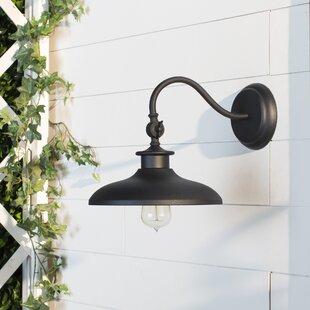 Outdoor gooseneck barn light wayfair tennyson 1 light outdoor barn light mozeypictures Gallery