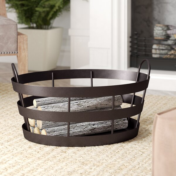 Navarrette Wrought Iron Log Carrier By Gracie Oaks