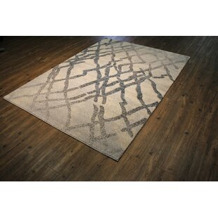 Inexpensive Magpie Abstract Black/Beige Area Rug By 17 Stories