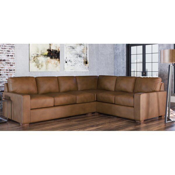 Blanca Leather Sectional by Westland and Birch