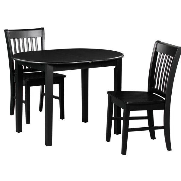 Spillers 3 Piece Extendable Solid Wood Dining Set by Winston Porter Winston Porter