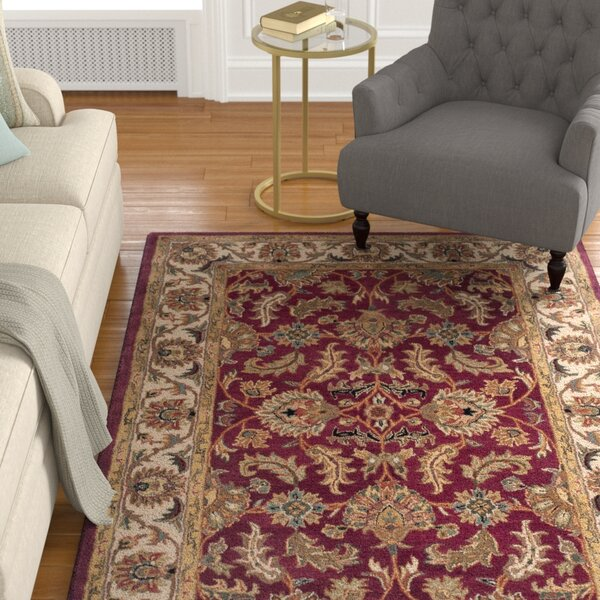 Cranmore Red/Ivory Floral Area Rug by Charlton Home