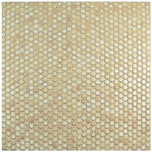 Penny 0.8 x 0.8 Porcelain Mosaic Tile in Truffle b