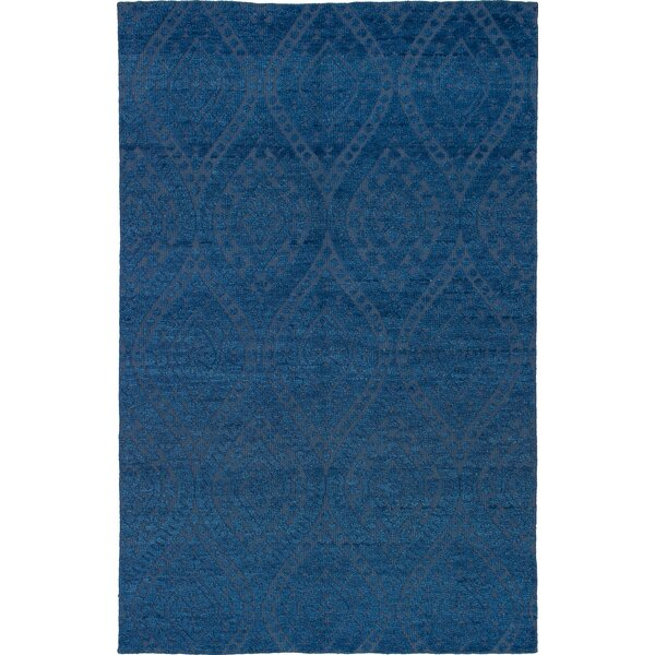 One-of-a-Kind Brewster Hand-Knotted Wool Blue Area Rug by Bungalow Rose
