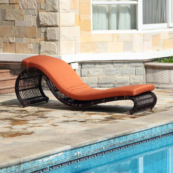 Skeen Chaise Lounge with Cushion by Brayden Studio Brayden Studio