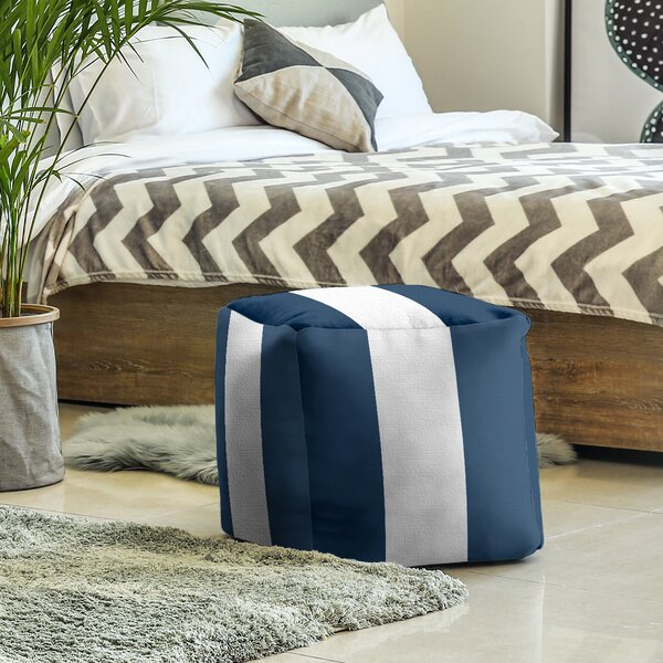 Michigan Stripes Cube Ottoman by East Urban Home East Urban Home