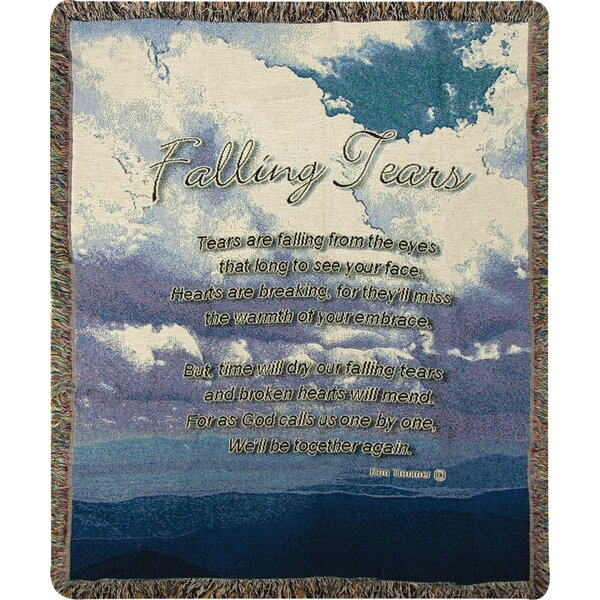 Falling Tears Tapestry Cotton Throw by Manual Woodworkers & Weavers