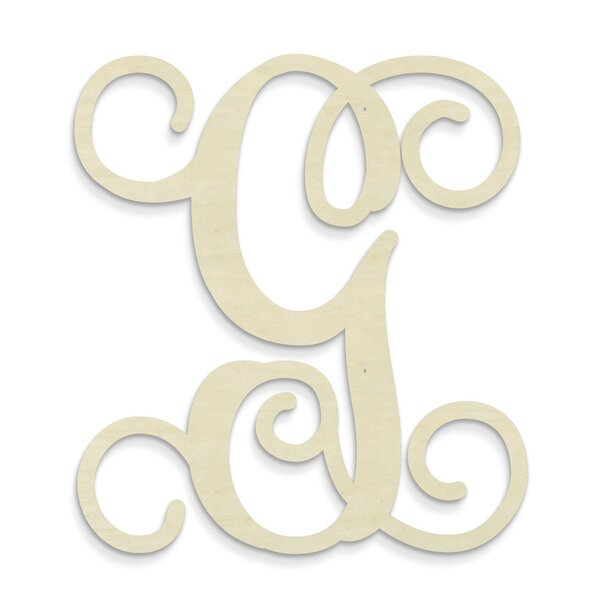 Herbst Single Vine Monogram Hanging Initials by Viv + Rae