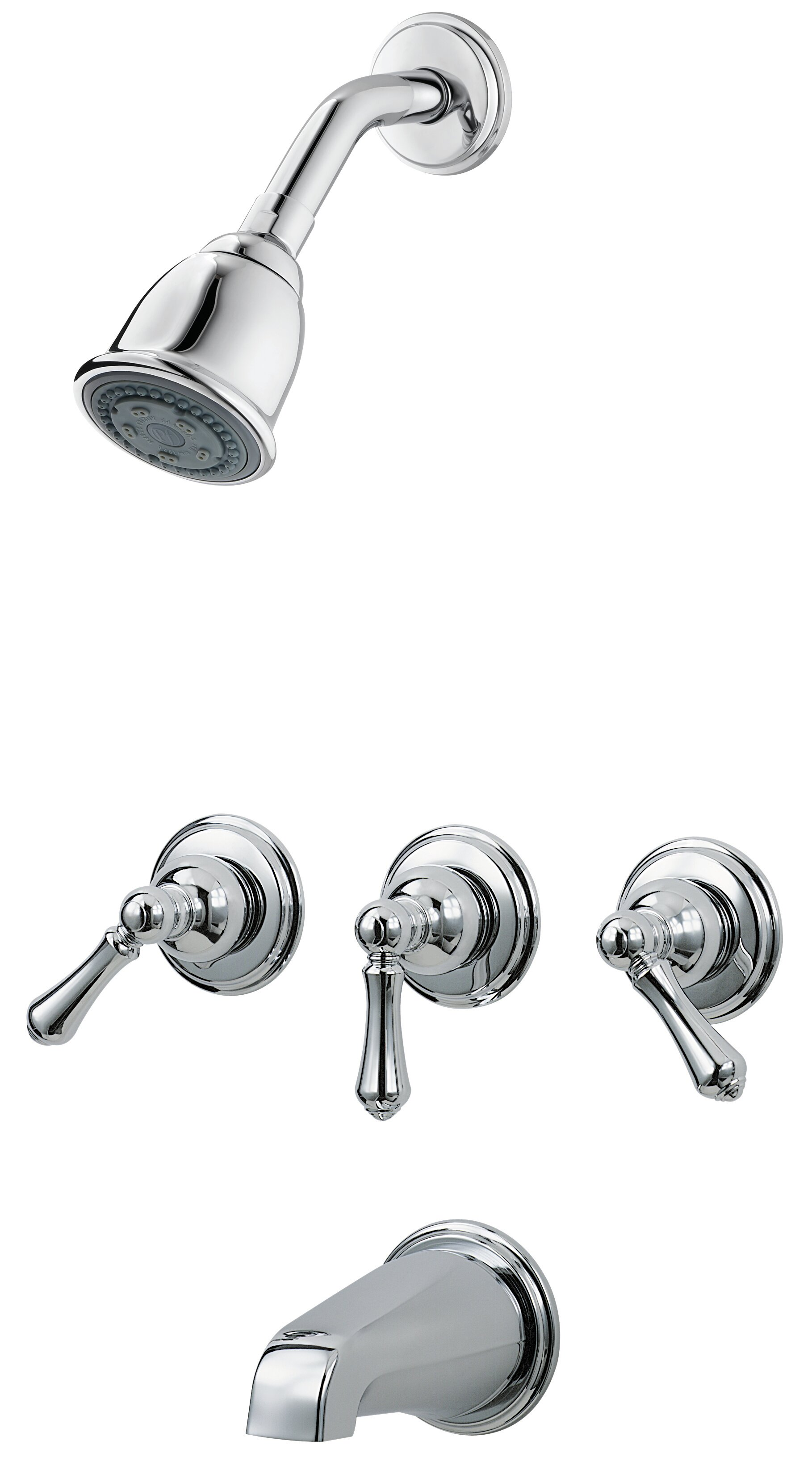 Picture of: Pfister 3 Handle Thermostatic Tub And Shower Faucet With Trim Reviews Wayfair Ca