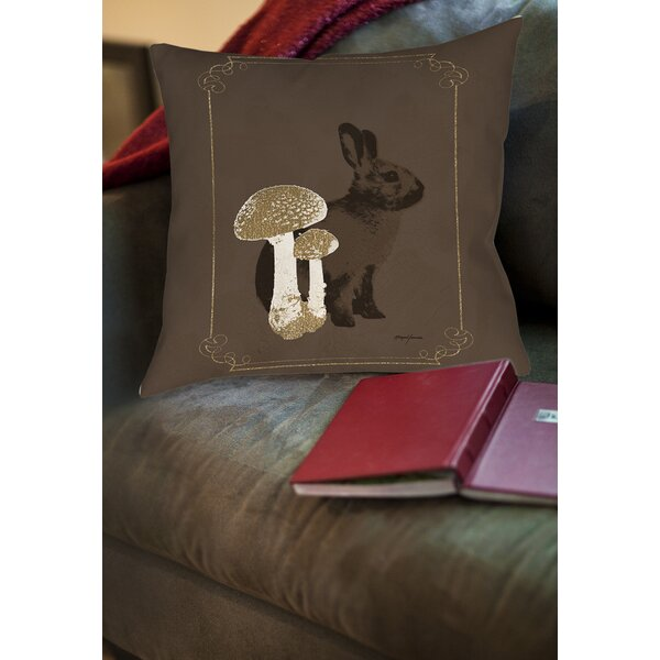Luxury Lodge Rabbit Printed Throw Pillow by Manual Woodworkers & Weavers