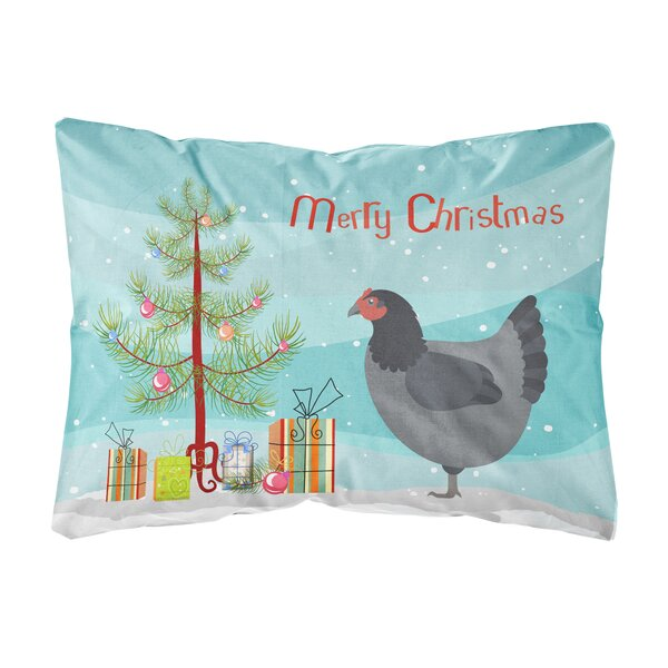 Holyoke Jersey Giant Chicken Christmas Indoor/Outdoor Throw Pillow by The Holiday Aisle