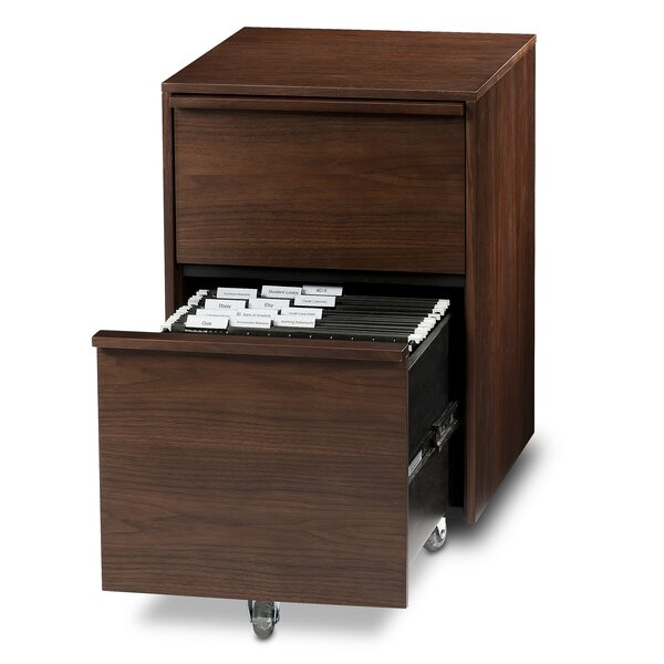 Cascadia 2-Drawer Mobile  Filing Cabinet by BDI