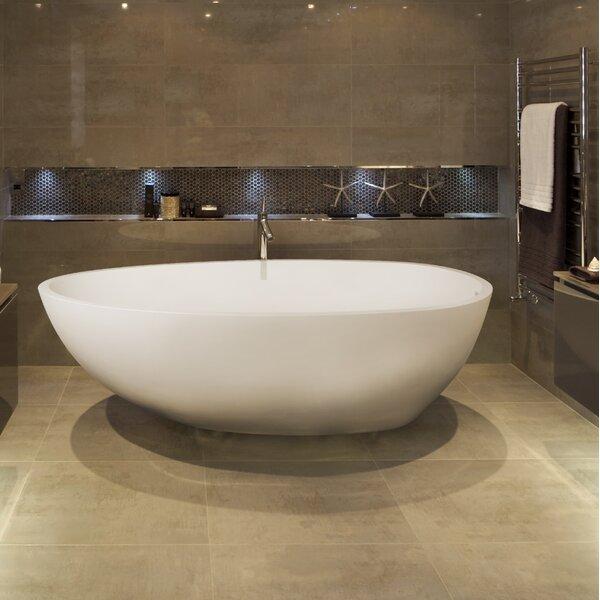 Irideon 71.25 x 38.5 Freestanding Soaking Bathtub by Clarke Products