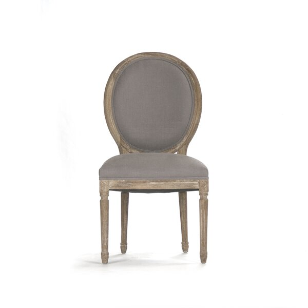 Asta Velvet Upholstered King Louis Back Side Chair in Gray by One Allium Way One Allium Way