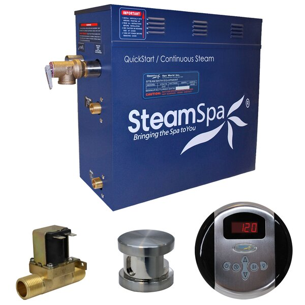 Oasis 4.5 kW QuickStart Steam Bath Generator Package with Built-in Auto Drain by Steam Spa