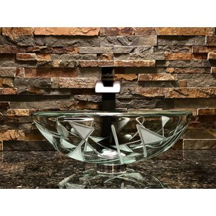 Find Geo Glass Circular Vessel Bathroom Sink By Elegant Glass Engraving Studio