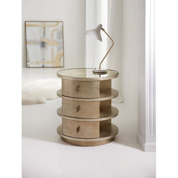Melange End Table with Storage by Hooker Furniture