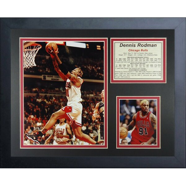 Dennis Rodman - Bulls Framed Memorabilia by Legends Never Die