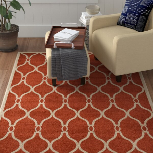 Molly Terracotta Area Rug by Winston Porter