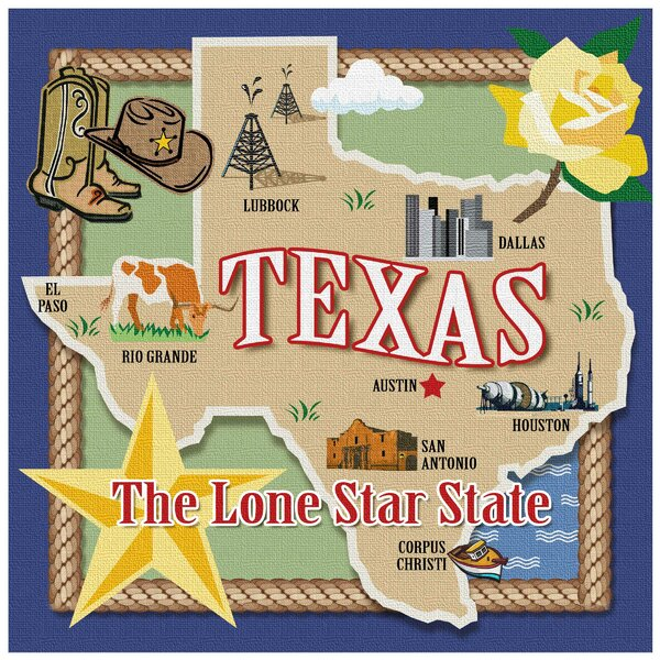 True Texas Occasions Trivet by Thirstystone