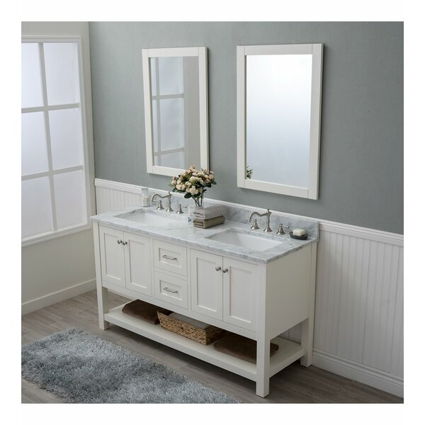 Daughtry 60 Double Bathroom Vanity Set with Mirror