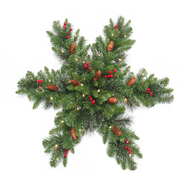 Green/Brown/Red Spruce Snowflake by Three Posts