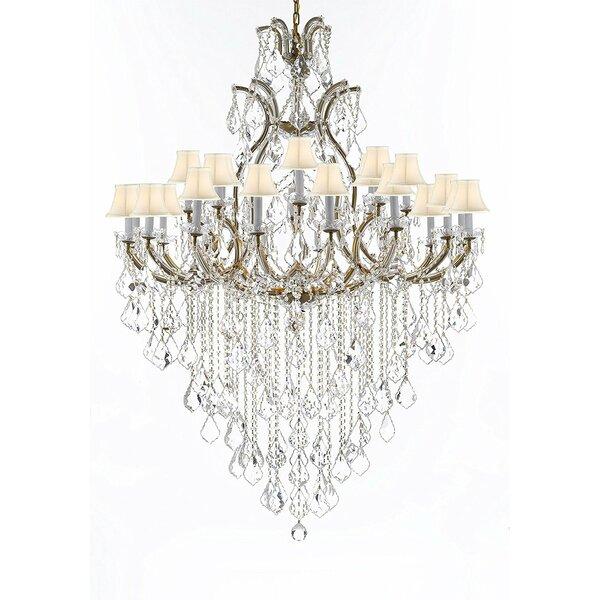 Poynter 25 - Light Shaded Tiered Chandelier by Astoria Grand Astoria Grand