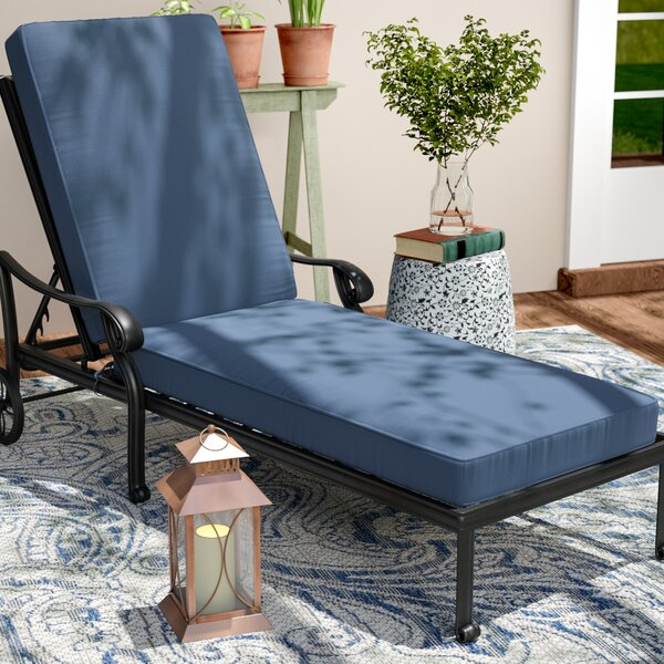 Double Piped Chaise Lounge Cushion by Darby Home Co