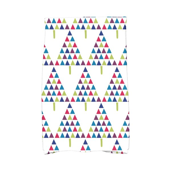 Triangle Trees II Hand Towel by The Holiday Aisle