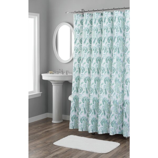 Paisley Cotton Shower Curtain by Nicole Miller