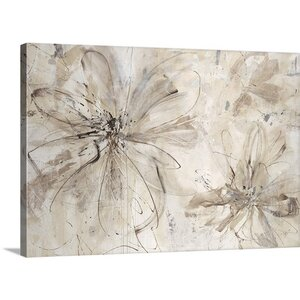 'Milk and Honey Floral' by Sydney Edmunds Painting Print on Canvas by Great Big Canvas