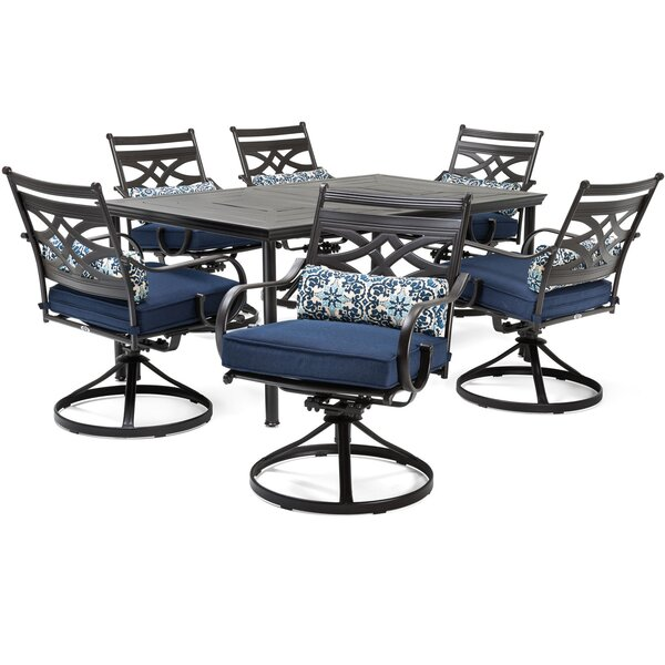 Keeble 7 Piece Dining Set With Cushions By Alcott Hill by Alcott Hill Herry Up