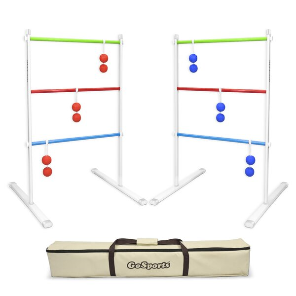 9 Piece Premium Metal Ladder Toss Game Set by GoSports