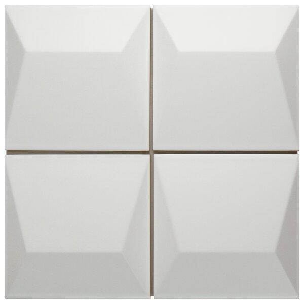Tello 6 x 6 Ceramic Field Tile in Blanco by EliteTile