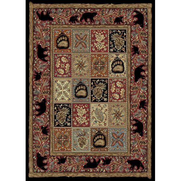 American Destinations Red/Black Area Rug by Mayberry Rug