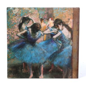 Dancers in Blue, 1890 by Edgar Degas Painting Print on Wrapped Canvas by Trademark Global