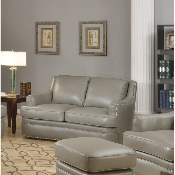 Online Shopping For Dreyer Leather Loveseat by Canora Grey by Canora Grey