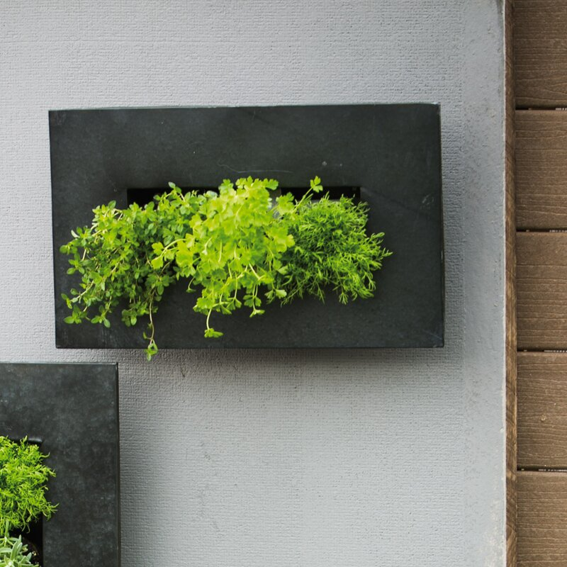 Zinc 12 Pocket Metal Wall Planter
