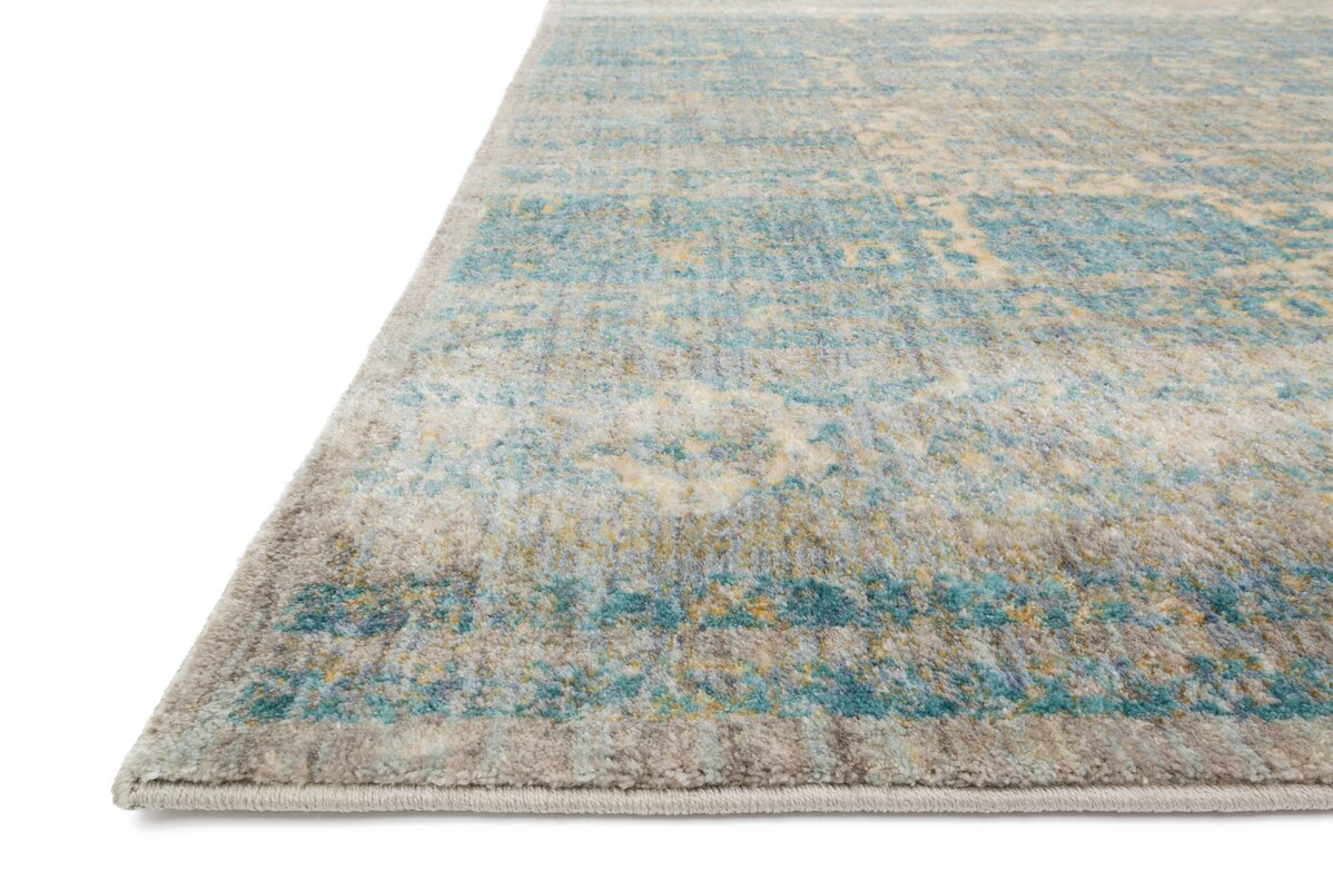 Jonas Teal Blue Mustard Beige Area Rug Amp Reviews Allmodern