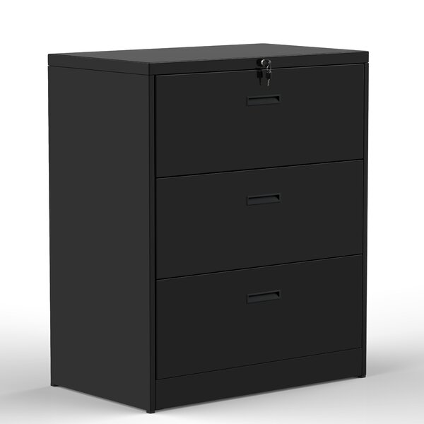 Alyena 3 Drawer Vertical Filing Cabinet