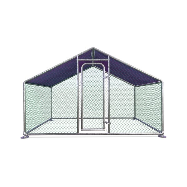 Ezekiel Metal Walk-in Chicken Coop/Chicken Run with Waterproof Cover by Tucker Murphy Pet