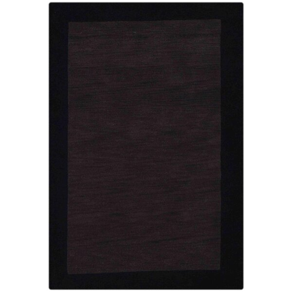Creager Hand-Tufted Wool Charcoal Black Area Rug by Ebern Designs