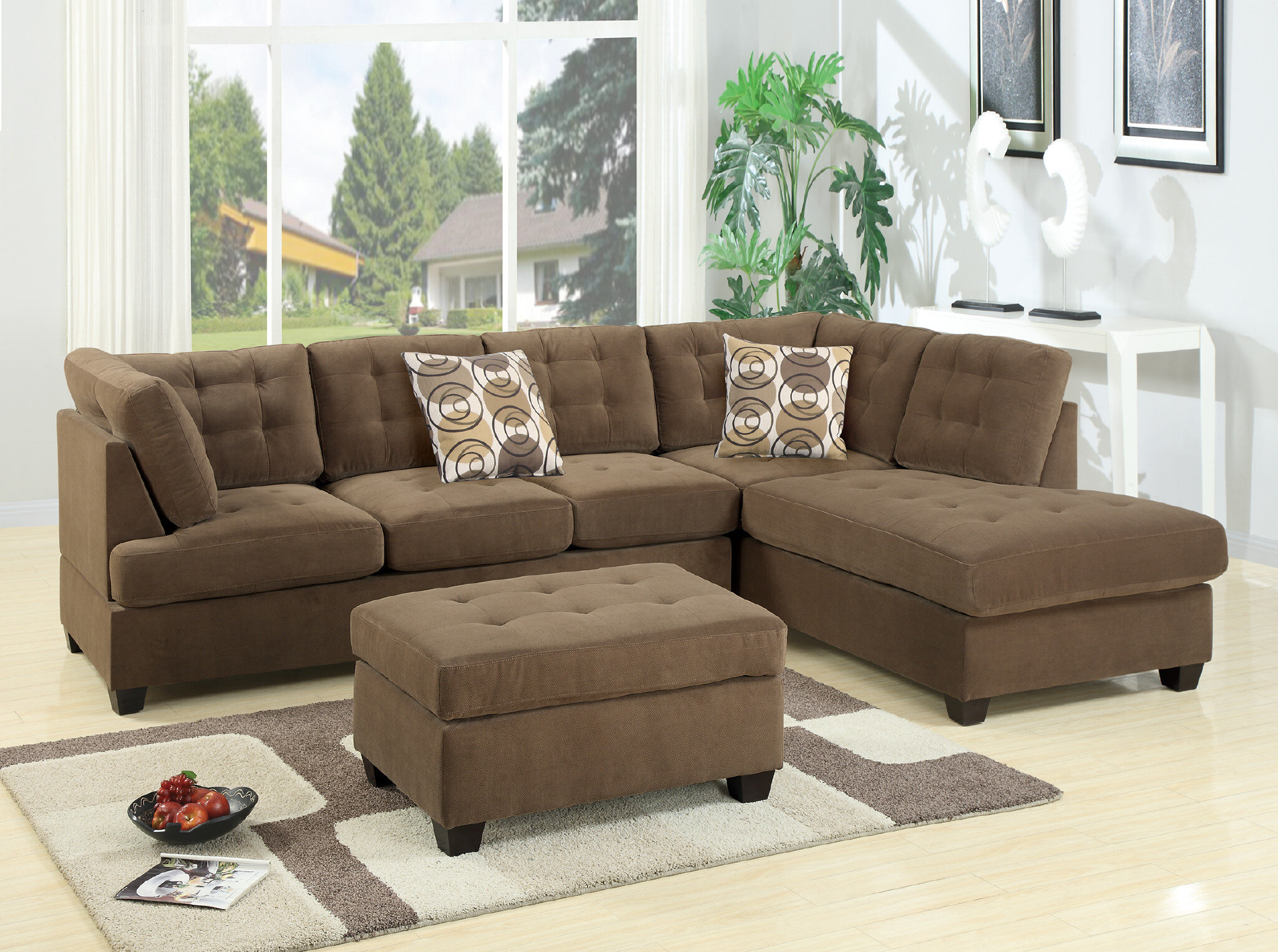 Red Barrel Studio Tomita Right Hand Facing Modular Sectional With