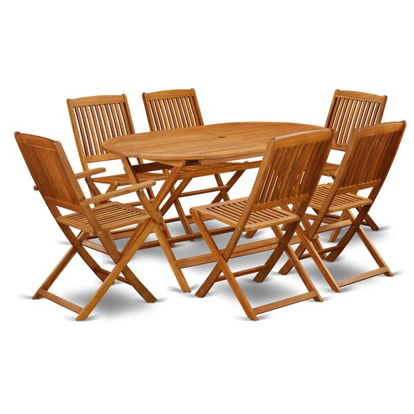Bragg 7 Piece Patio Dining Set by Longshore Tides