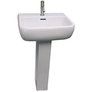 Purchase Metropolitan 520 Vitreous China Rectangular Pedestal Bathroom Sink with Overflow By Barclay