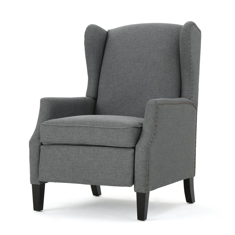 wingback recliners chairs living room furniture andover mills lamontagne wingback recliner amp reviews wayfair 25754