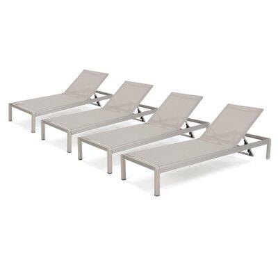 durbin mesh chaise lounge set of 4