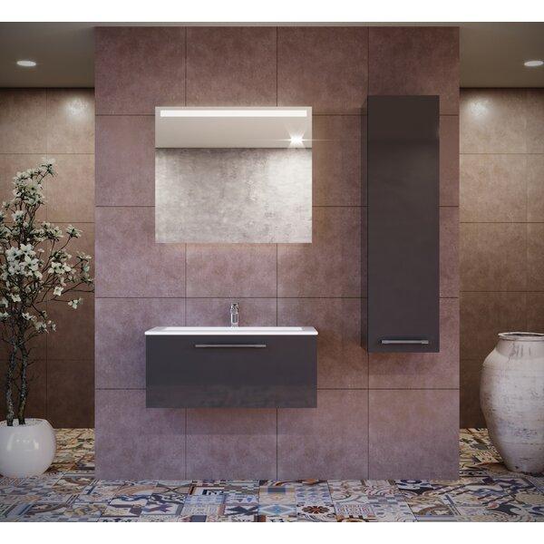 Violet 39 Wall-Mounted Single Bathroom Vanity Set with Mirror by Orren Ellis